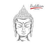 Boeddhismeinzameling spirituality royalty-vrije illustratie