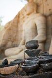 Boeddhismelampen weg royalty-vrije stock afbeeldingen