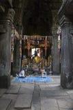 Boeddhistisch altaar in Angor-Watts Royalty-vrije Stock Afbeeldingen