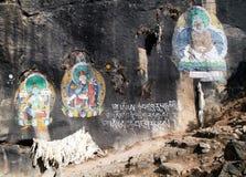 Boeddhistisch beeld dichtbij Thame-dorp Royalty-vrije Stock Foto's