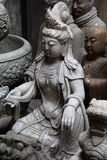 Boeddhistisch beeldhouwwerk Stock Foto's