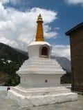 Boeddhistisch chorten in Kalpa, India stock afbeelding