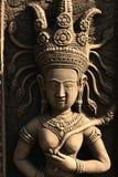 Boeddhistisch de engelenstandbeeld van de steen, Thailand. Royalty-vrije Stock Fotografie