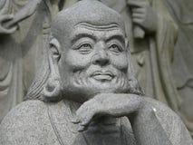 Boeddhistisch godsdienstig beeldhouwwerk stock afbeelding