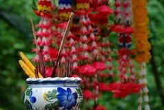 Boeddhistisch Heiligdom in Thailand Stock Foto
