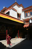 Boeddhistisch klooster stock afbeeldingen