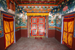 Boeddhistisch kloosterbinnenland, muktinath Royalty-vrije Stock Afbeeldingen