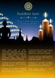 Boeddhistisch Lent Artwork Template Royalty-vrije Stock Foto