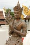 Boeddhistisch Standbeeld in de oude stad, Chiang Mai stock foto