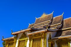 Boeddhistisch tempeldak Stock Foto's
