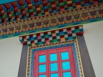 Boeddhistisch venster Stock Foto's