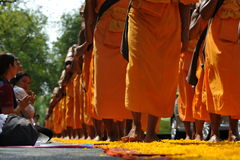 Boeddhistische Bedevaart royalty-vrije stock foto