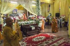 Boeddhistische begrafenis Stock Foto