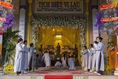 Boeddhistische begrafenis Stock Fotografie