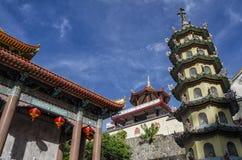 Boeddhistische Chinese die architectuur van de tempel van Kek Lok Si, in Lucht Itam in Penang, Maleisië wordt gesitueerd Stock Foto's