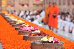 Boeddhistische de kunstmarkt van de weergave in India Stock Foto's