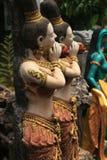 Boeddhistische de tuinstandbeelden van de steen, Thailand. Royalty-vrije Stock Foto's