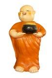 Boeddhistische die beginnerpop op witte achtergrond wordt geïsoleerd Royalty-vrije Stock Afbeeldingen