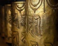 Boeddhistische gebedwielen Stock Afbeelding