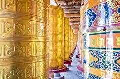 Boeddhistische Gebedwielen Stock Foto's