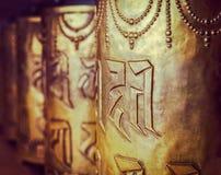 Boeddhistische gebedwielen Royalty-vrije Stock Afbeeldingen
