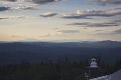 Boeddhistische inschrijvingen Bergen Stock Foto