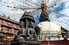 Boeddhistische Kathesimbhu Stupa Stock Fotografie