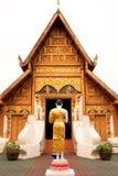 Boeddhistische kerk in het noorden van Thailand. Royalty-vrije Stock Afbeelding
