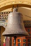 Boeddhistische klok in boudhanath, Katmandu Royalty-vrije Stock Foto