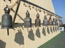 Boeddhistische klokken, Thailand. Stock Afbeeldingen