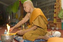 Boeddhistische monnik stock fotografie