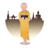 Boeddhistische Monnik Stock Foto's