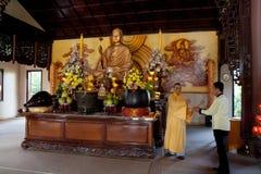 Boeddhistische Monnik op Ceremonie stock foto's