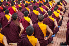 Boeddhistische monniken royalty-vrije stock foto's