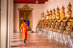 Boeddhistische monniken Royalty-vrije Stock Afbeeldingen