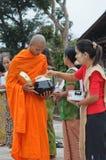 Boeddhistische monniken in Thailand Royalty-vrije Stock Afbeelding