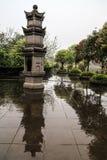 Boeddhistische pagode in lingyunberg in de provincie van Sichuan, China Royalty-vrije Stock Afbeelding