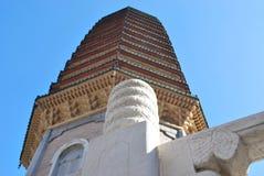 Boeddhistische pagode in perspectief Royalty-vrije Stock Afbeelding