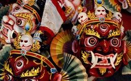 Boeddhistische rituele maskers in Katmandu stock afbeeldingen