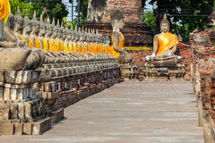 Boeddhistische standbeelden royalty-vrije stock foto's