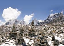 Boeddhistische Stenen - Nepal royalty-vrije stock afbeelding