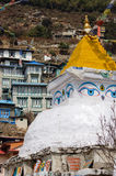 Boeddhistische stupa bij Namche-Bazaar, Nepal Stock Afbeelding