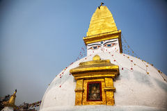 Boeddhistische stupa in Bodnath stock foto