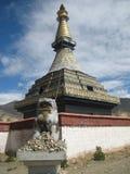 Boeddhistische stupa, choyten Stock Foto's