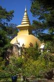 Boeddhistische stupa in het klooster Dienbien vietnam stock foto