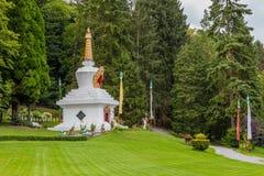 Boeddhistische Stupa in Huy, België Royalty-vrije Stock Foto