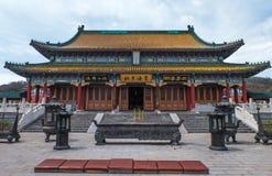 Boeddhistische tempel bij Tianmen-Berg Royalty-vrije Stock Foto