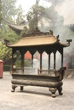 Boeddhistische tempel in China royalty-vrije stock afbeelding