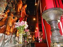 Boeddhistische tempel in China E royalty-vrije stock afbeelding