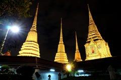 Boeddhistische tempel in de nacht Royalty-vrije Stock Fotografie